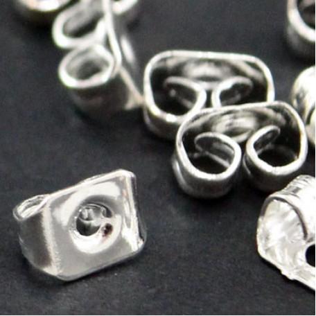 Заглушки металл арт. МБ.УТ7617 цв.серебро 5х3,5 мм 100шт