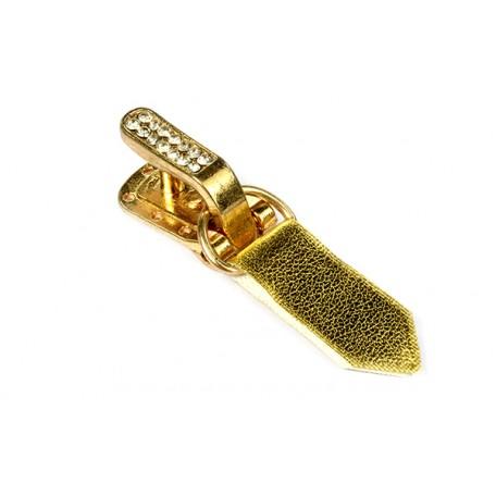 Крючки шубные со стразами арт.TBY-HWCR.GOLD цв. золото уп.50шт.