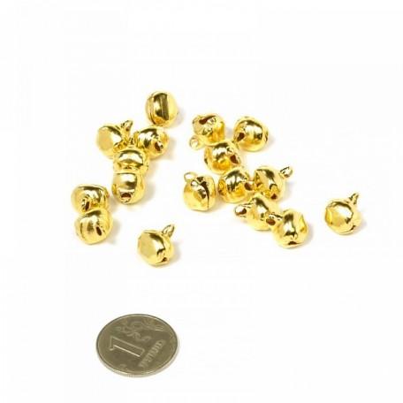 Бубенчик 10мм цв.золото фурнитура для игрушек