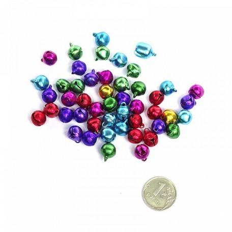 Бубенчик 10мм (цветные) фурнитура для игрушек уп.100шт