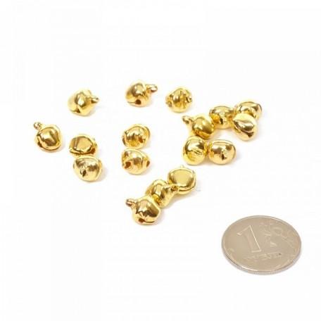 Бубенчик 8мм цв.золото фурнитура для игрушек