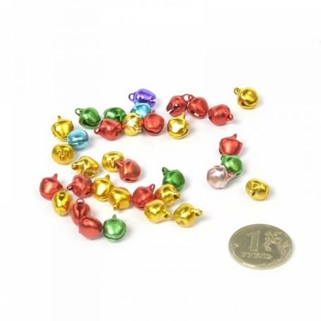 Бубенчик 8мм (цветные) фурнитура для игрушек