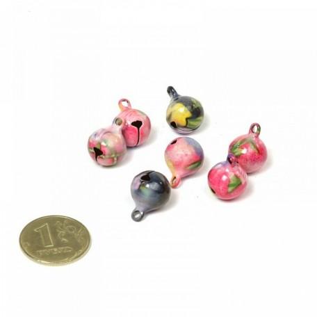 Бубенчики цветные 12мм фурнитура для игрушек