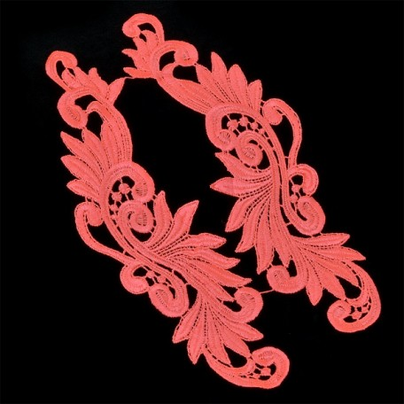 Лейсы пришивные арт.ISK.1699.09 уп.2шт. цв.ярко розовый 8x27см