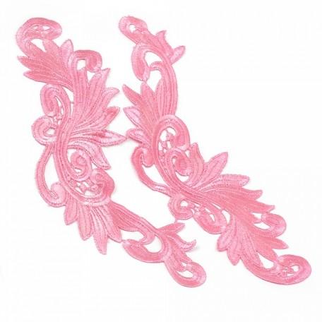Лейсы пришивные арт.ISK.1699.11 уп.2шт. цв.розовый 8x27см
