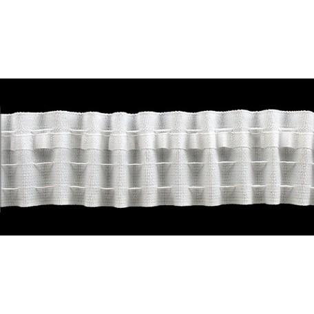 Лента шторная арт.401 шир.40мм равномерная складка фас.100м (2 шнура)