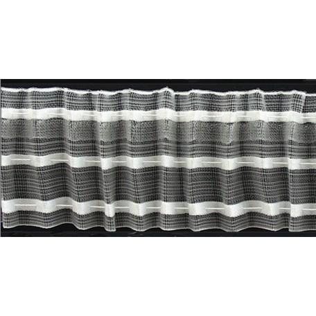 Лента шторная арт.606-0 шир.60мм капрон равномерная складка (2 шнура)