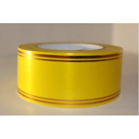 RUG.A543 Лента с золотой полосой 5см х 50ярд цв.желтый