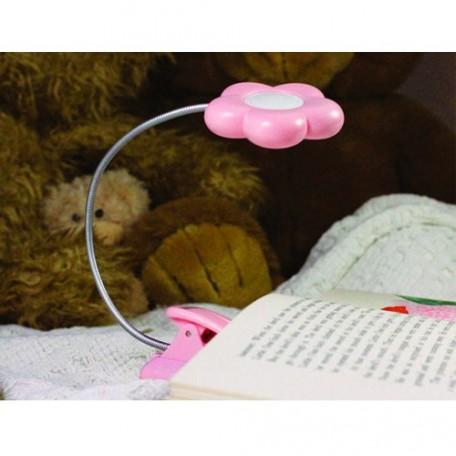 GC.35016 MIGHTY BRIGHT Мини-лампа 'клипса' с 2-мя светодиодами, цв.розовый (в форме цветочка) 32х5х4,5