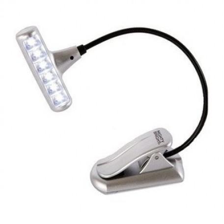 GC.44812 MIGHTY BRIGHT Мини-лампа 'клипса' с 6-ю светодиодами цв.серебристый