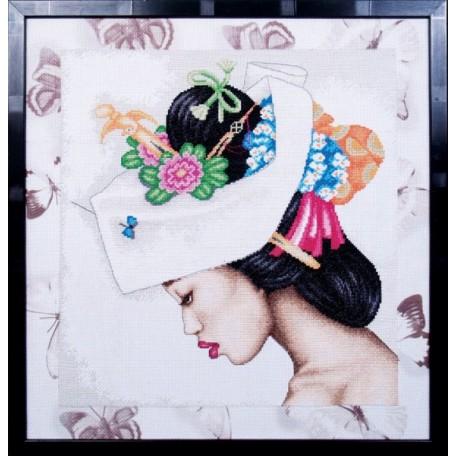 Набор для вышивания арт.МК- К004 'Гейша' 42х43 см