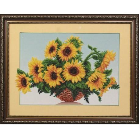 Набор для вышивания бисером арт.МК- Б006 'Солнечные цветы' 44х34 см