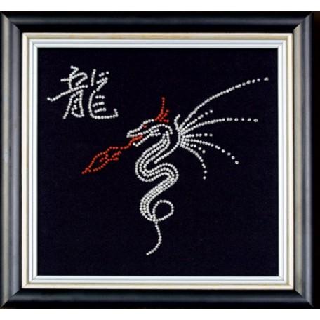 Набор для вышивания бисером арт.МК- Б008 'Год дракона' 18х18 см