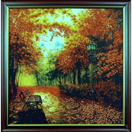 Набор для вышивания бисером арт.МК- Б010 'Осенний парк' 39x40 см