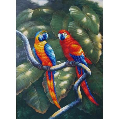 Набор для вышивания бисером арт.МК- Б011 'Краски джунглей' 33,5х47,5 см