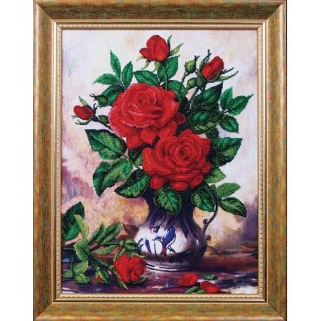 Набор для вышивания бисером арт.МК- Б012 'Королевский букет' 32х43,5 см