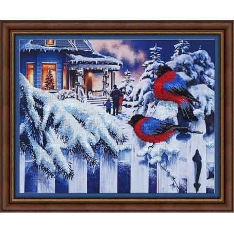 Набор для вышивания бисером арт.МК- Б013 'Вестники зимы' 37х27 см