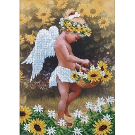Набор для вышивания бисером арт.МК- Б017 'Мой ангел' 27х38 см