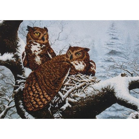 Набор для вышивания бисером арт.МК- Б020 'Семейное гнездо' 50,5х36,5 см