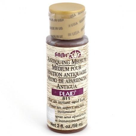 PLD-00811 Средство-медиум Антик FolkArt коричневый, 59 мл