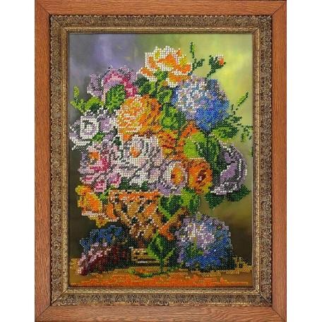 Набор для вышивания бисером 'МЕГАРУК' арт.001 Аромат цветов 18,5х26 см