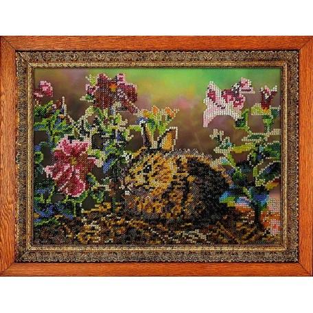 Набор для вышивания бисером 'МЕГАРУК' арт.002 Зайка 18,5х26 см