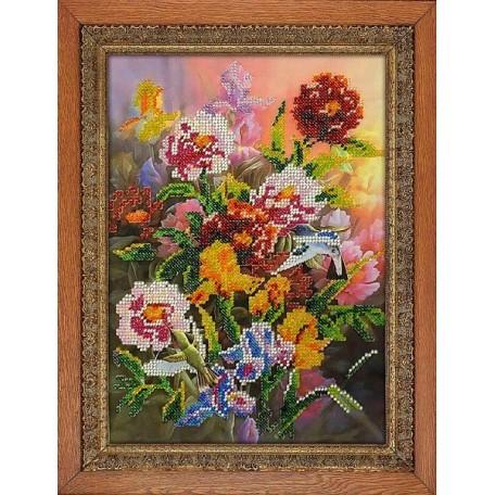 Набор для вышивания бисером 'МЕГАРУК' арт.003 Экзотика 26х18,5 см