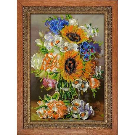 Набор для вышивания бисером 'МЕГАРУК' арт.005 Флористика 26х18,5 см