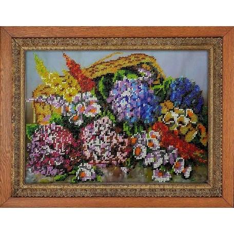 Набор для вышивания бисером 'МЕГАРУК' арт.011 Луговой цвет 18,5х26 см