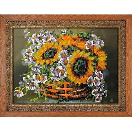 Набор для вышивания бисером 'МЕГАРУК' арт.013 Вальс цветов 18,5х26 см