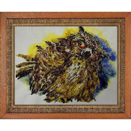 Набор для вышивания бисером 'МЕГАРУК' арт.015 Филин 20х27 см