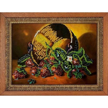 Набор для вышивания бисером 'МЕГАРУК' арт.016 Рубиновые россыпи 18,5х26 см