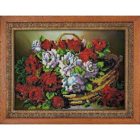 Набор для вышивания бисером 'МЕГАРУК' арт.017 Цветной дуэт 18,5х26 см