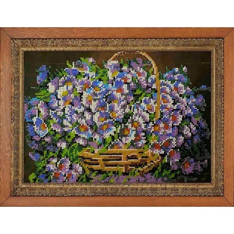 Набор для вышивания бисером 'МЕГАРУК' арт.019 Улетный букет 18,5х26 см
