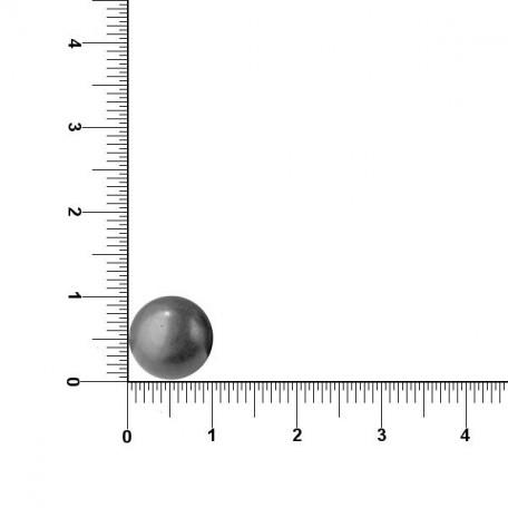 Пуговицы арт.ABS-1 полусфера 20L цв.т.никель