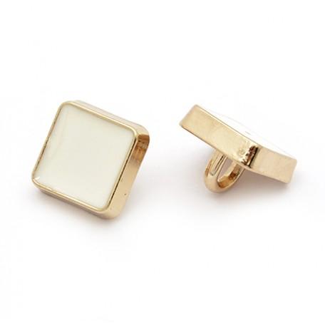 Пуговица арт.JB.76438 14L цв.золотой+белый уп.20 шт