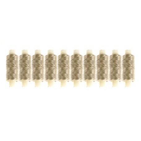 Нить Металлизированная 10кат. цв. серебро 250м.