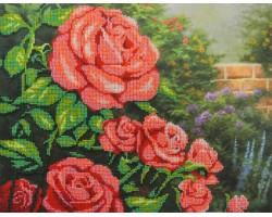 Набор для вышивания Габардин+бисер 'МП Студия' арт БГ-231 'Красные розы' 23х28 см