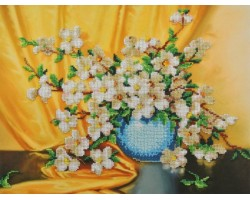 Набор для вышивания Габардин+бисер 'МП Студия' арт БГ-237 'Кизил' 28х35 см