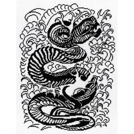 Набор для вышивания 'МП Студия' арт.НВ-158 'Змея(графика)' 35х30 см