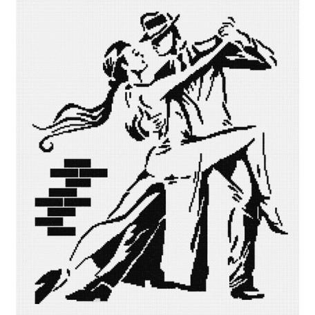 Набор для вышивания 'МП Студия' арт.НВ-159 'Танго (графика)' 40х35 см