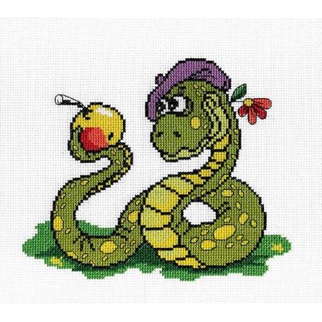 Набор для вышивания 'МП Студия' арт.НВ-164 'Змей. Быть или не быть' 20х22 см