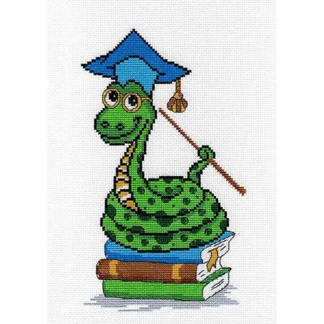 Набор для вышивания 'МП Студия' арт.НВ-165 'Змейка-Знайка' 25х15 см