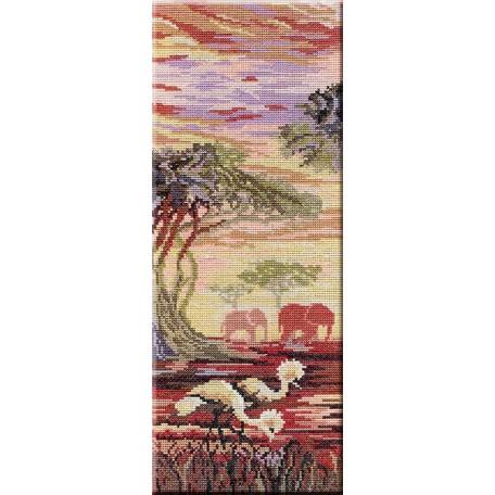 Набор для вышивания 'МП Студия' арт.НВ-194 'Триптих 'Слоны' 1 часть' 38х15 см