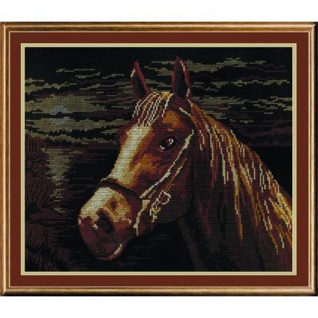 Набор для вышивания 'МП Студия' арт.НВ-199 'Лошадь' 25х33 см