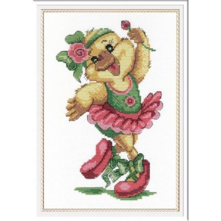 Набор для вышивания 'МП Студия' арт.НВ-207 'Уточка-балерина' 25х18 см