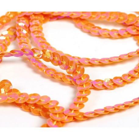 Пайетки на нитях 6мм Cream Colour арт.TBY-FLKU06-CC цв.0088 оранжевый уп.73.12м