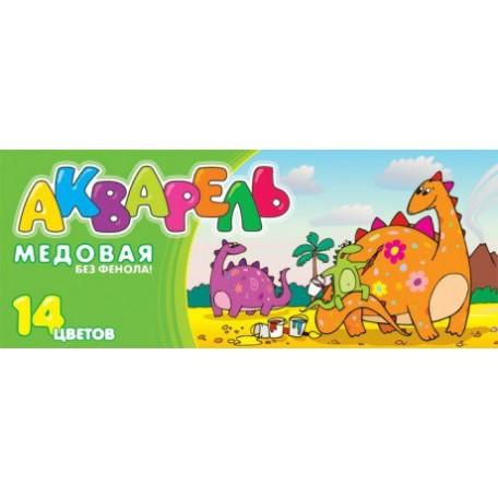 LORI А-034 Акварель 'Динозавры'14 цв. б/к