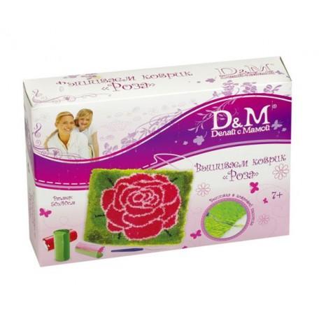 Набор для вышивания 'Делай с Мамой' арт. 43224 Коврик 'Роза' 50х40