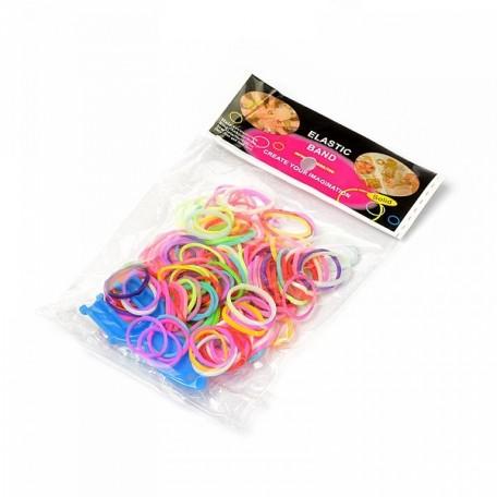 Набор для плетения браслетов Loom Bands цв.ассорти 300 шт
